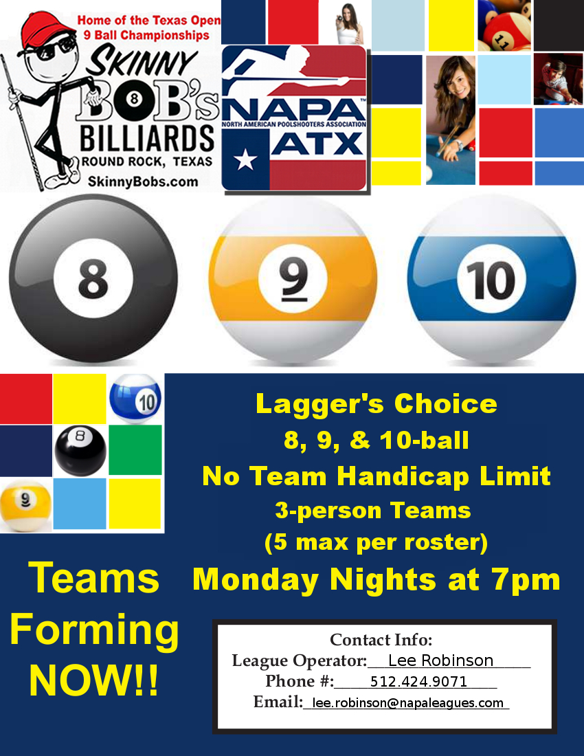 ATX NAPA LC at Skinny Bobs Tue Night League